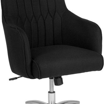 Albi Home and Office Upholstered High Back Chair in Black Fabric [BT-90910H-BLK-F-GG]