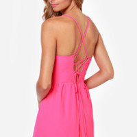 Cute or Dare Fuchsia Dress