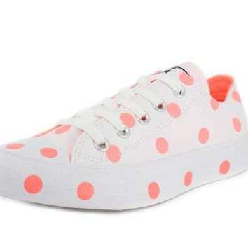 Converse Womens Chuck Taylor All Star Polka Dots Low Top Sneaker