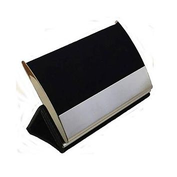 Personalized Free Engraving Black Business Card Holder
