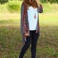 Paisley Princess Cardigan: Multi