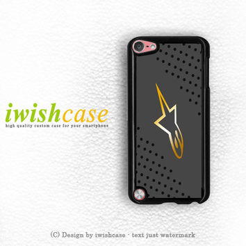 Alpinestars Grunge Protective Gear Jersey iPod Touch 4 Case iPod Touch 5 Case
