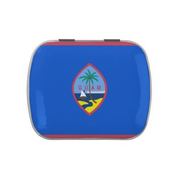 Patriotic candy tins with Flag of Guam