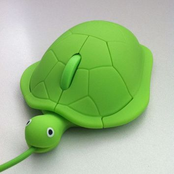 2017 Mini cute kawaii Wired mouse 2.0 usb 3D Tortoise Animal mause PC computer gamer mause lovely turtle maus funny gift latop