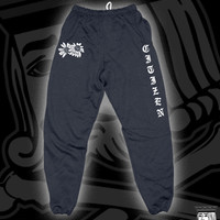 CIT FLOWER SWEATPANTS ON NAVY