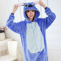 lilo and stitch Onesuit Unisex Onesuits for lovers warm fleece pajamas for women pajama set warm animal pajamas one piece femme