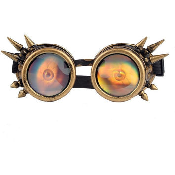 NEW ARRIVAL 3D EYEBALL STEAMPUNK GOGGLES COSPLAY GLASSES VINTAGE RETRO WELDING HALLOWEEN PUNK GOTHIC COSPLAY RAVE LENS HOT