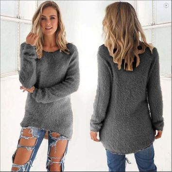 Fuzzy Warm Pullover Sweater