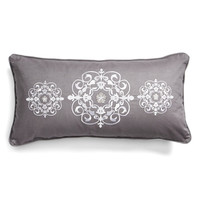 'Toscano' Embroidered Medallion Pillow