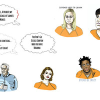 OITNB 8 Sticker Pack-  Pack 1 of 2