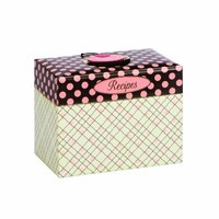 C.R. Gibson 4 by 6-Inch Recipe File Box, Jessie Steele Cherry Cupcakes