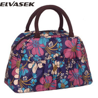 Elvasek high quality women handbags messenger bags women leather handbag cartoon print bag phone keepers bags clutches LS7140