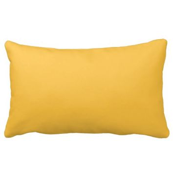 solar yellow solid decorative lumbar throw pillows