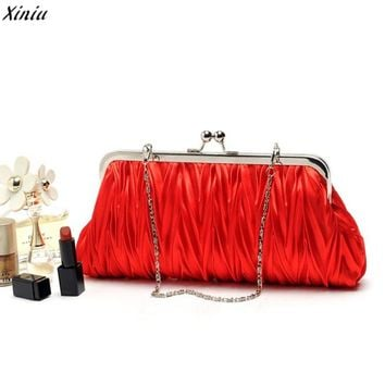 new 2017 women wallets famous brands silk wallet purse with shoulder strap chain womens luxury clutch purses party evening bag