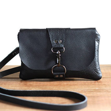 Leather Mini Crossbody Bag, Mini Messenger Festival Bag for Women, Leather Cross Body Purse,  Phone Minimalist Clutch, Small Leather Pouch