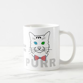 Cat Purr funny customizable Coffee Mug