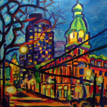 Giclee print on canvas - Federal Building, West Hastings - Signed/Editioned