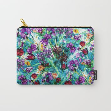 Floral Jungle Carry-All Pouch by RIZA PEKER