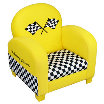 Komfy Kings, Inc 12724 Race Car Yellow Chair