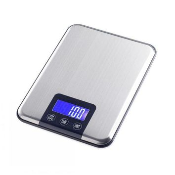 DCCKFS2 Touch Button 15KG x 1g Portable Digital Balance Weight Weighing Kitchen Scale Cooking Tool Libra Diet Food CD Blue Backlit