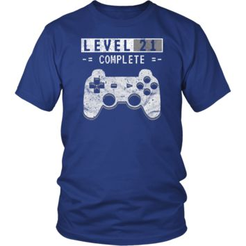 Men's Level 21 Complete T-Shirt - 21st Video Gamer Birthday Gift