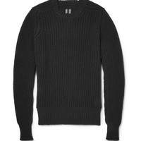 Rick Owens - Chunky-Knit Wool Crew Neck Sweater | MR PORTER