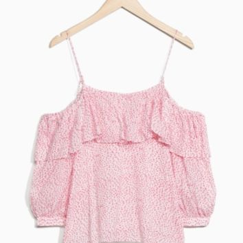 & Other Stories | Frilled Blouse | Pink Print