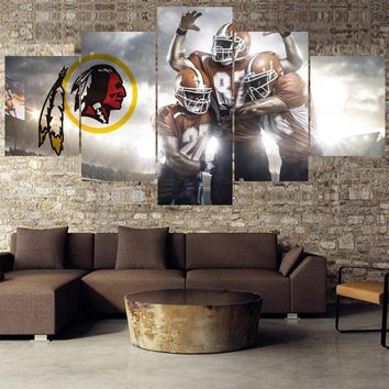5 Pcs Rugby ball Paintings Washington Redskins Modern Home Decor Living Room Bedroom Wall Art Canvas Print Painting Calligraphy
