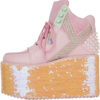 Y.R.U for Women: Qozmo Hi Mermaid Platform Sneakers