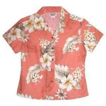 petal hawaiian lady blouse