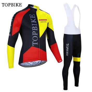 TOPBIKE Pro Cycling Jersey Sets traje ciclismo mujer Long Sleeve Racing Bicycle Cycling Clothing MTB cycle dress bicycle outfit