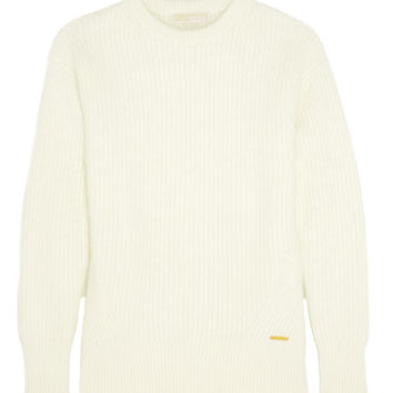 MICHAEL Michael Kors - Ribbed angora-blend sweater
