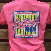 Southern Chics Softball Mom Cleat Findin Uniform Washin Girlie Bright T Shirt