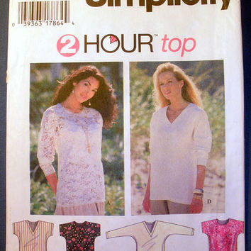 Misses' Top with Kimono Sleeves Size Large, X-Large Simplicity 9512 Sewing Pattern Uncut
