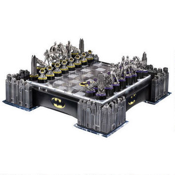 Batman Gotham Cityscape Chess Set by Noble Collection |