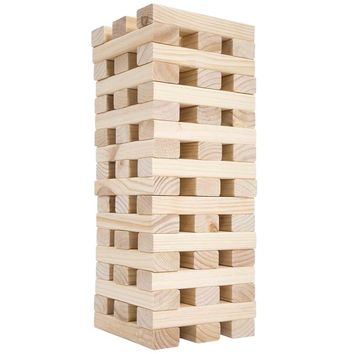 Hey! Play! Large Wooden Tumbling Towers | Overstock.com Shopping - The Best Deals on Other Games