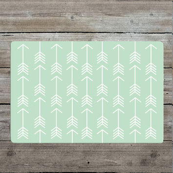 Mint Arrow Rug - Nursery Rug - Woodland Rug - Mint Rug - Modern - Kids Room Decor