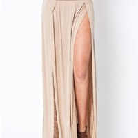 Slit Front Maxi Skirt from ShopWunderlust
