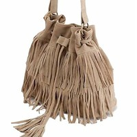 Womens Retro Vintage Fringe Tassel Shoulder Bag Handbags Messenger Bag