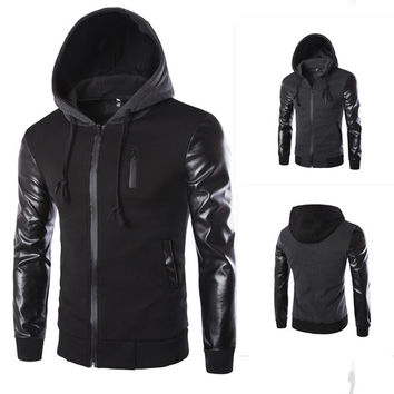 Mens Cool Slim Hoodie Jacket