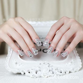 Manicure finished false nail patch patch new bride fake nails gum 0080
