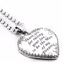Mother of the Groom Heart Pendant