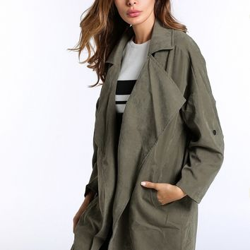 B| Chicloth Women Solid Cashmere Coat Jacket Street Wind Coat