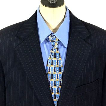 Brooks Brothers Blazer Madison 1818 Suit Jacket Wool USA Pinstripe Mens 40R 40 R - Preowned