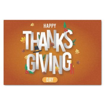 Happy Thanksgiving Day Tissue Paper