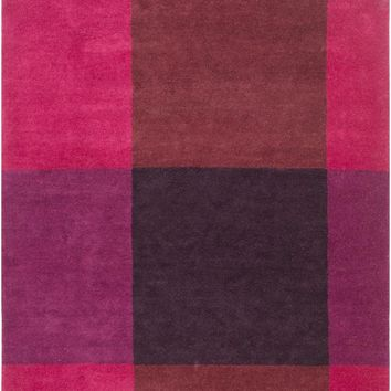 Surya Plaid Modern Red PID-1000 Area Rug