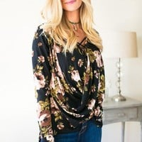 Love Makes It Easy Floral Criss Cross Top