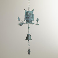 Verdigris Iron Owl Wind Chime - World Market