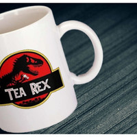 Tea Rex Dinosaur  Jurassic Park Inspired Movie Coffee Mug