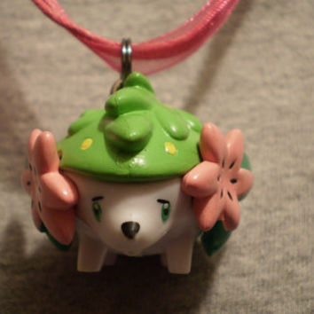 Pokemon Shaymin Figure Necklace by SpookyCuteAndMore on Etsy